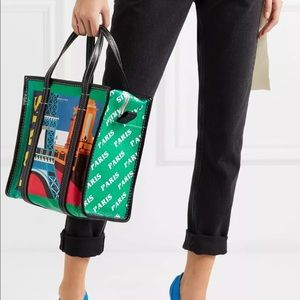 Balenciaga Paris Small Bazar Printed Tote Bag